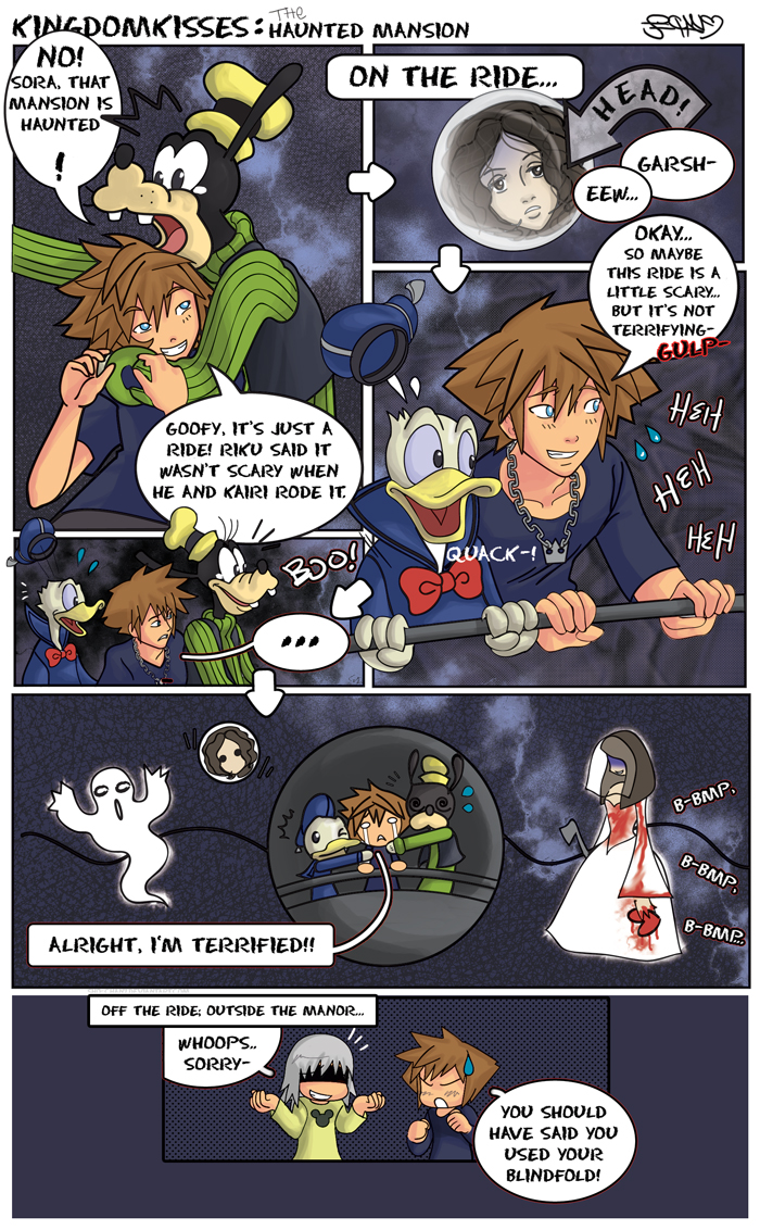 Intersting KH Pics You Find. KingdomKisses_Haunted_Mansion_by_Sho_chan9