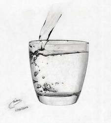 A Glass of Water by Taz1337