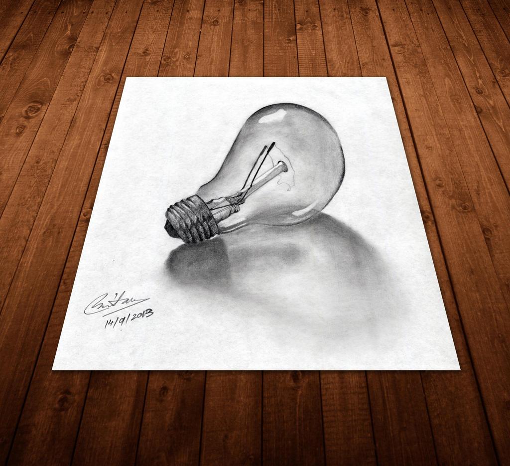 A bulb on the table by Taz1337