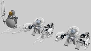 Micro-Bionicle -- Ice Bohrok and Kopaka scalefig