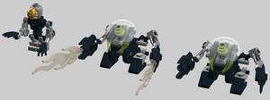 Micro-Bionicle -- Earth Bohrok and Onua scalefig