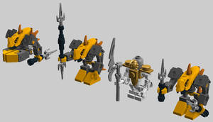 Micro-Bionicle -- Rahkshi of Heat Vision