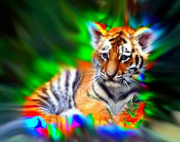 neon tiger by kermmit-loves-pie