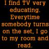 tv is educating by BlueRavenAngel