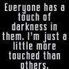 Touch of darkness by BlueRavenAngel
