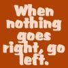 Go left by BlueRavenAngel