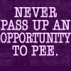 Never pass an opportunity by BlueRavenAngel