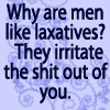 Men and laxatives by BlueRavenAngel