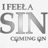 I feel a sin by BlueRavenAngel