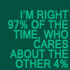 Who cares about 4% by BlueRavenAngel