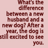Differnce between a husband and a dog by BlueRavenAngel