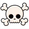 Cute skull by BlueRavenAngel