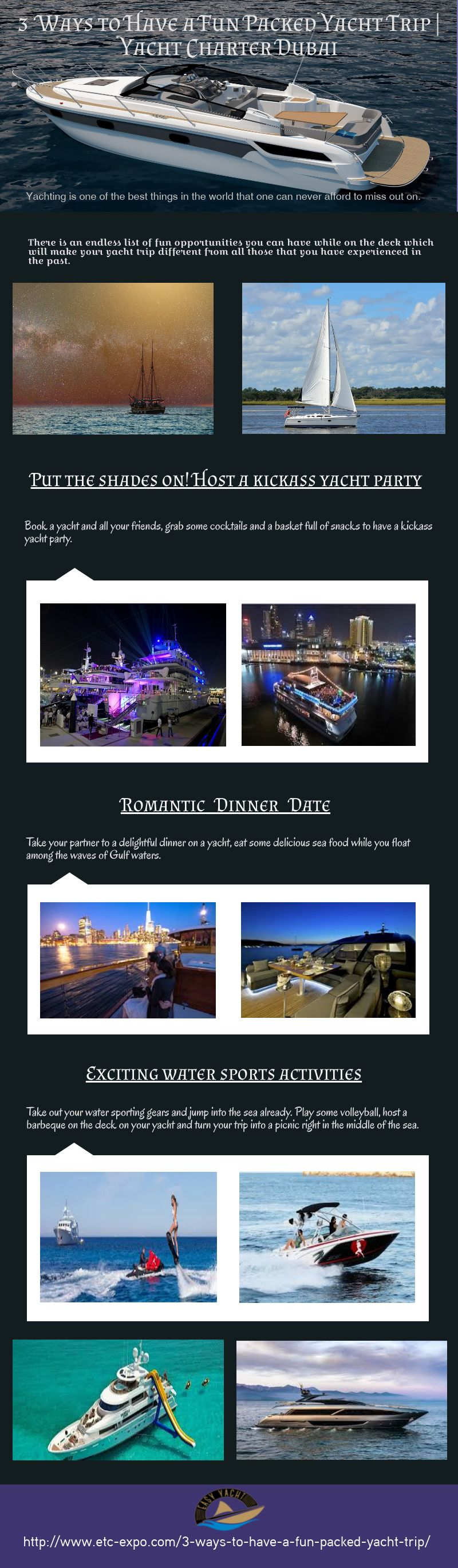 3 Ways to Have a Fun Packed Yacht Trip by saifalrehman