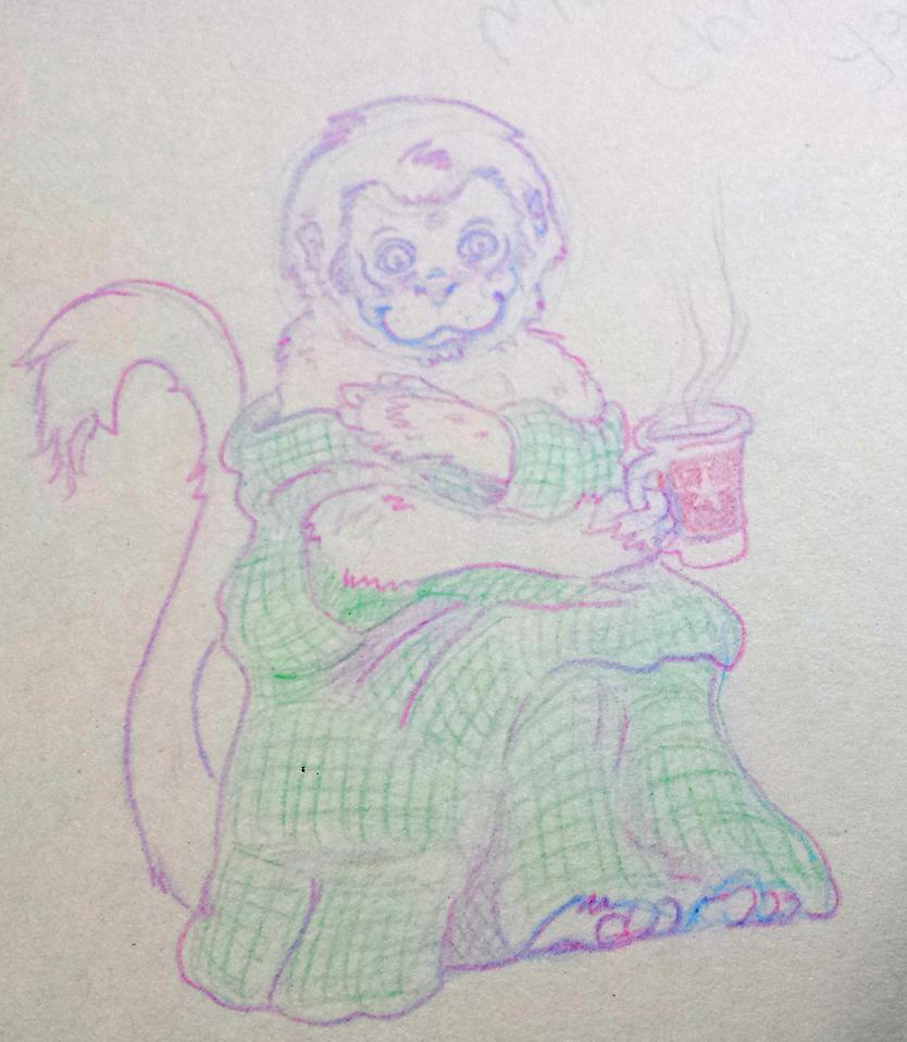 Merry Christmas ya cheeky monkey by Ninons