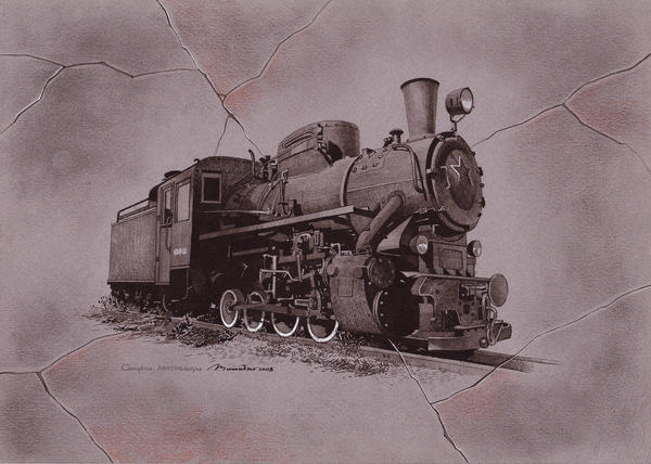 Old Train Drawing Old Train by Stefan69