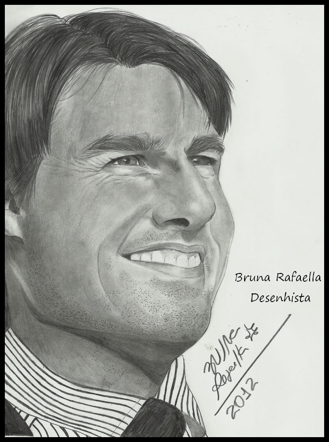 Desenho Realista Tom Cruise By Bruuh Place On Deviantart