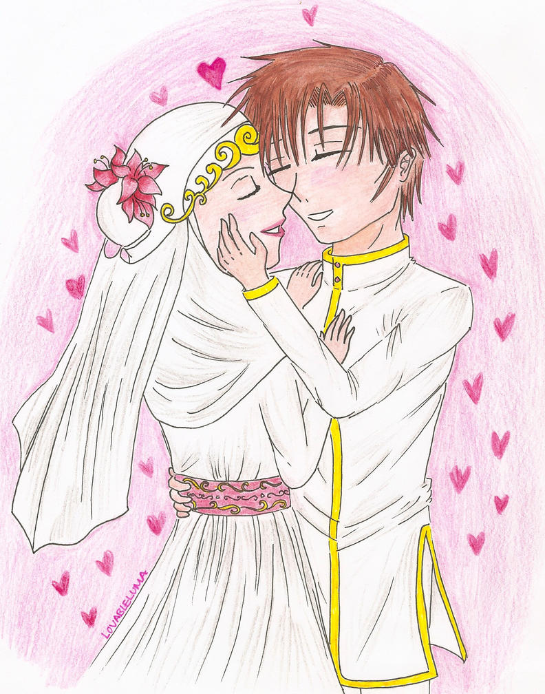 Married Anime Couples Drawings