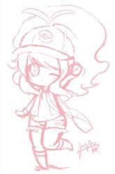 Old Sketch . Touka/Hilda by xStarry-Night