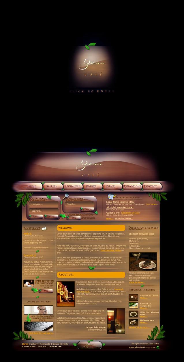 Zen Cafe Weblayout by zLk