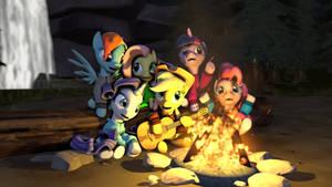 Friends Around the Campfire