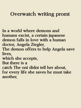Overwatch Writing Promt 1