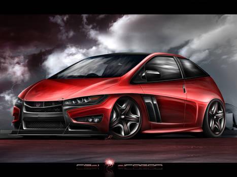 Honda Civic Red Dragon