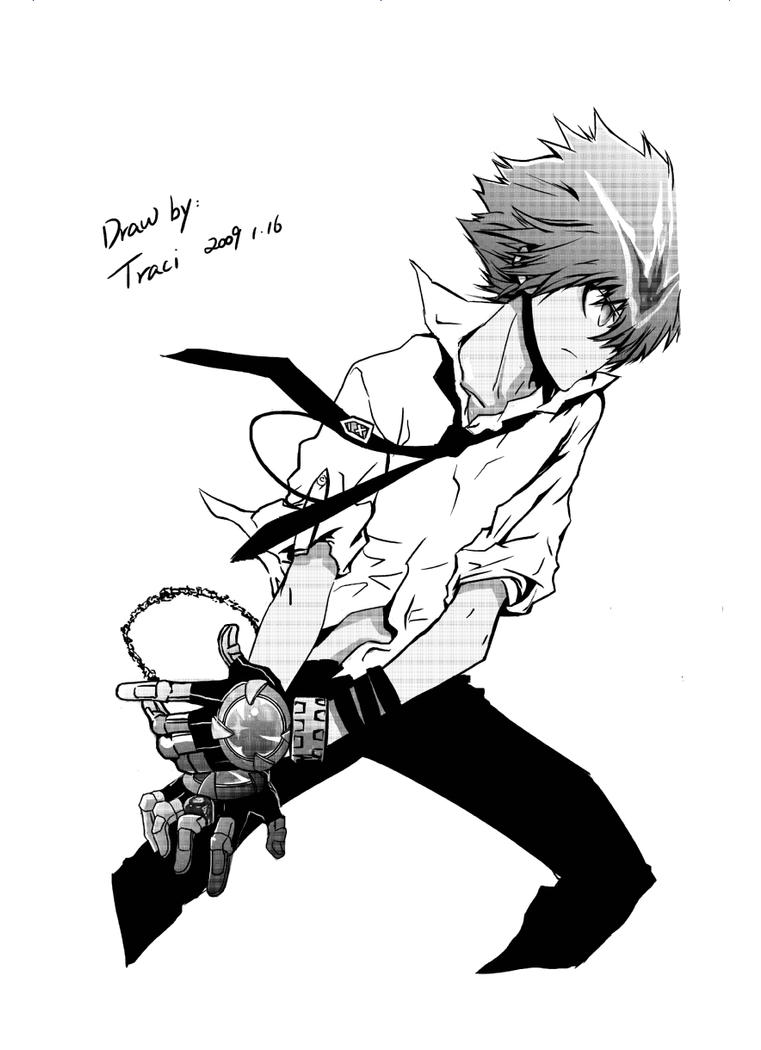 tsuna by shiningthunder