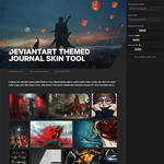 DeviantArt Themed Journal Skin Tool