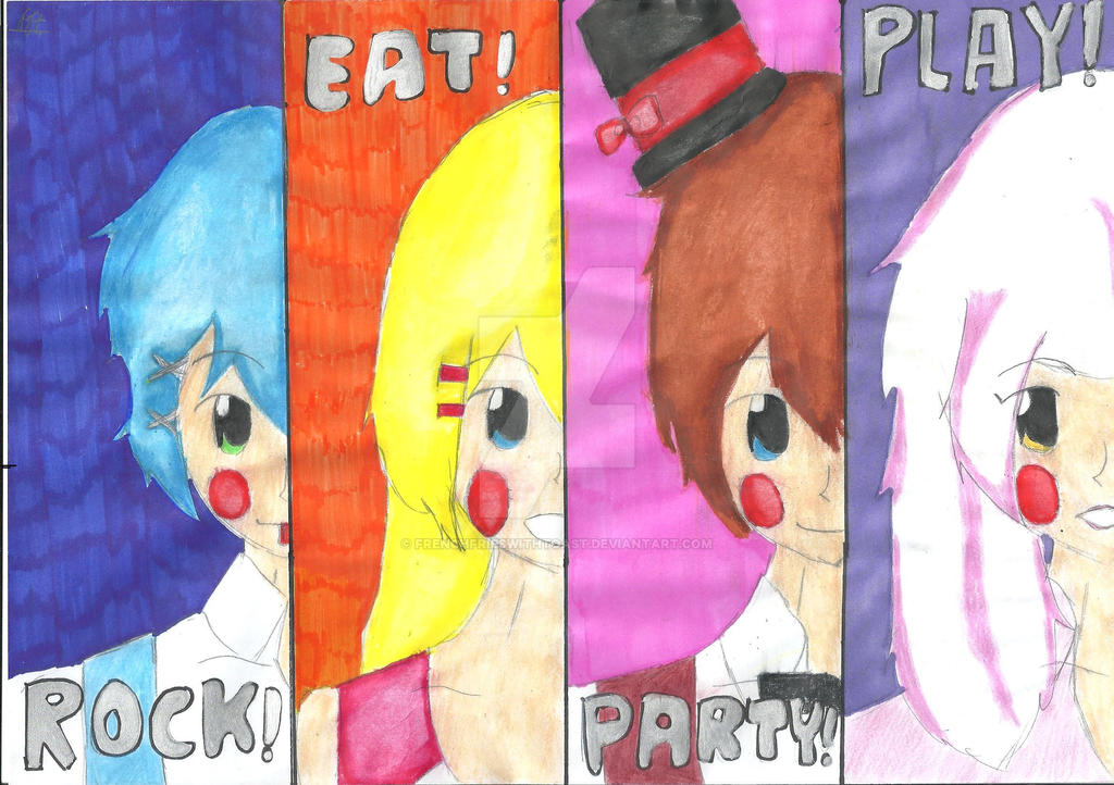 Fnaf 2 rock eat party play by frenchfrieswithtoast on deviantart