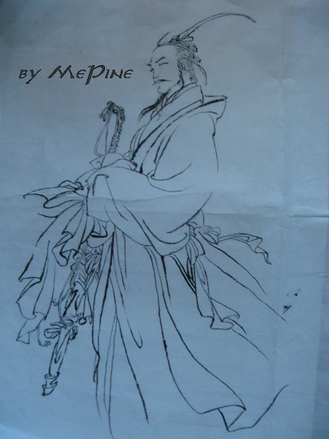 Ink and wash painting copy no3 by mepine