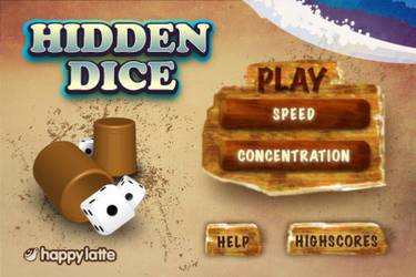 Hidden Dice menu screen
