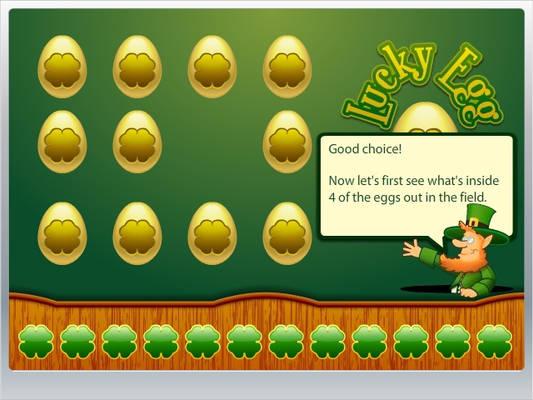 Lucky Egg game screen