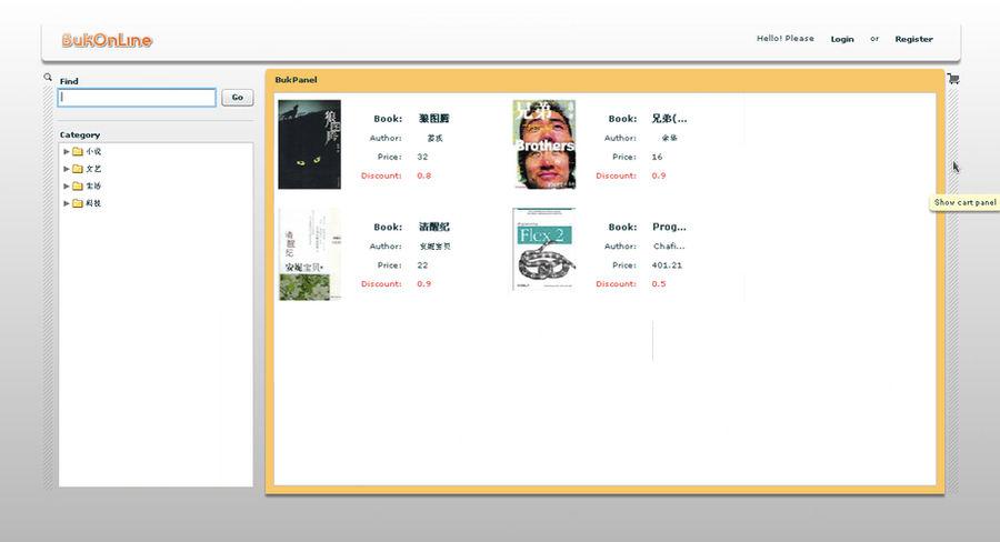 BukOL web app interface by mepine