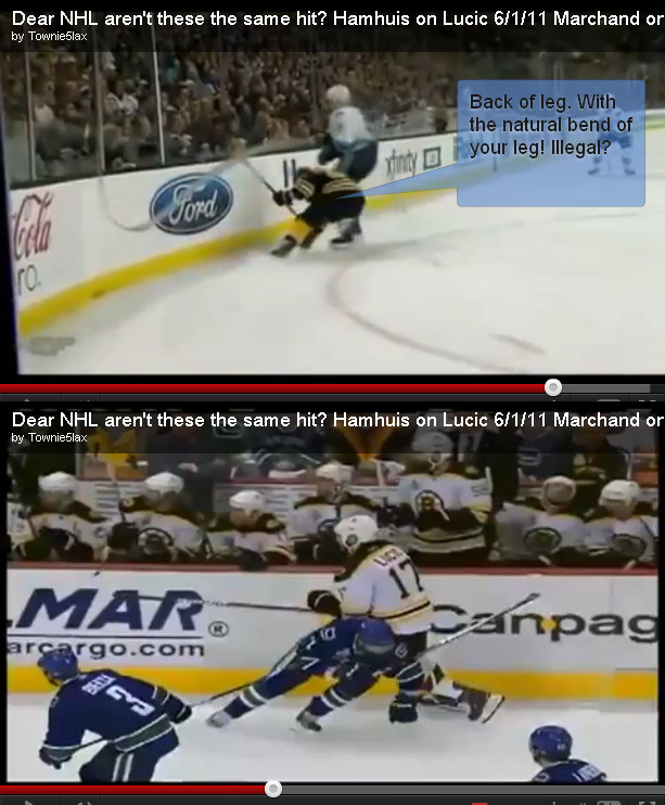 Marchand Hamhuis hit comparison by elvis15