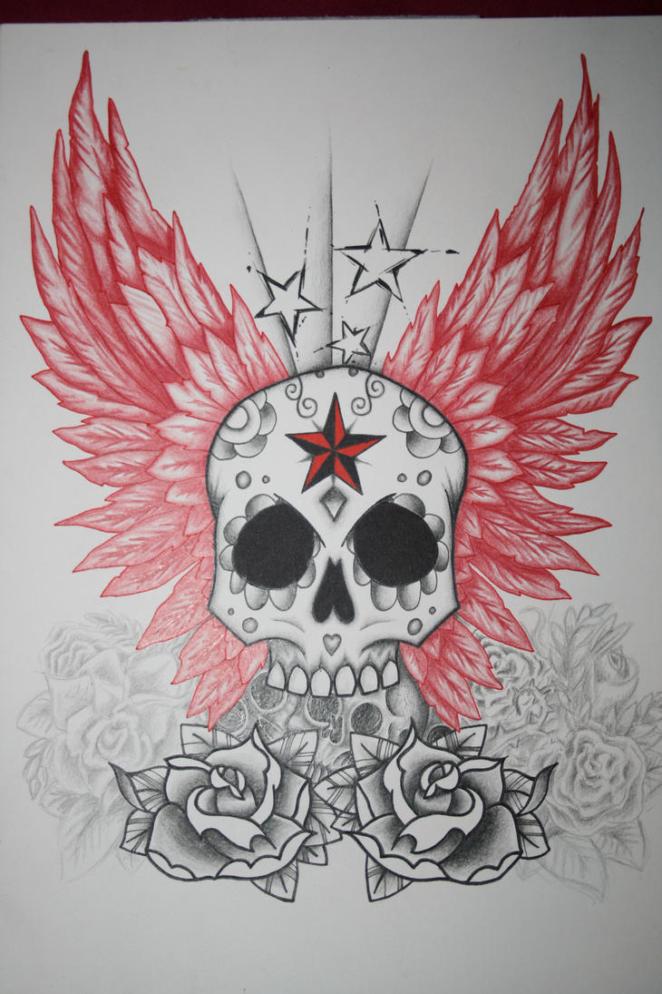 Skull with Wings Tattoo Designs