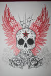 Skull And Wings Tattoo Design