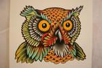 Owl Head Tattoo Design