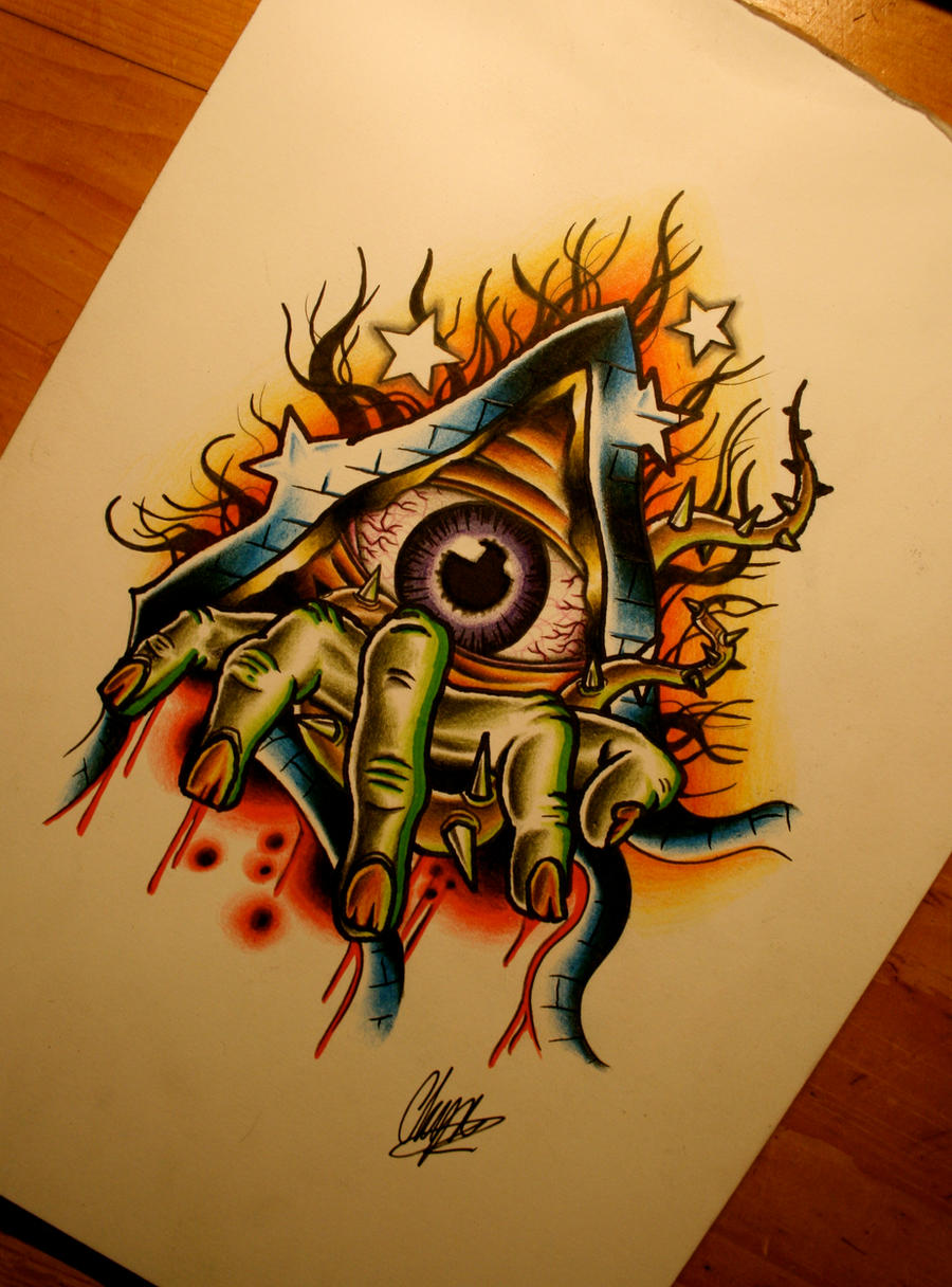 Broken eye by itchysack on deviantart for Eye tattoo art