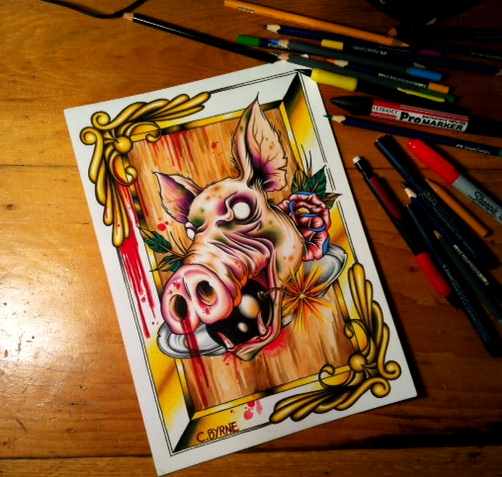 Zombie Pig by itchysack