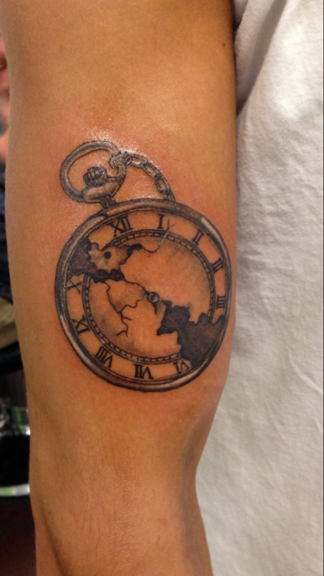 Pocket watch tattoo by itchysack on deviantart for Pocket watch tattoo