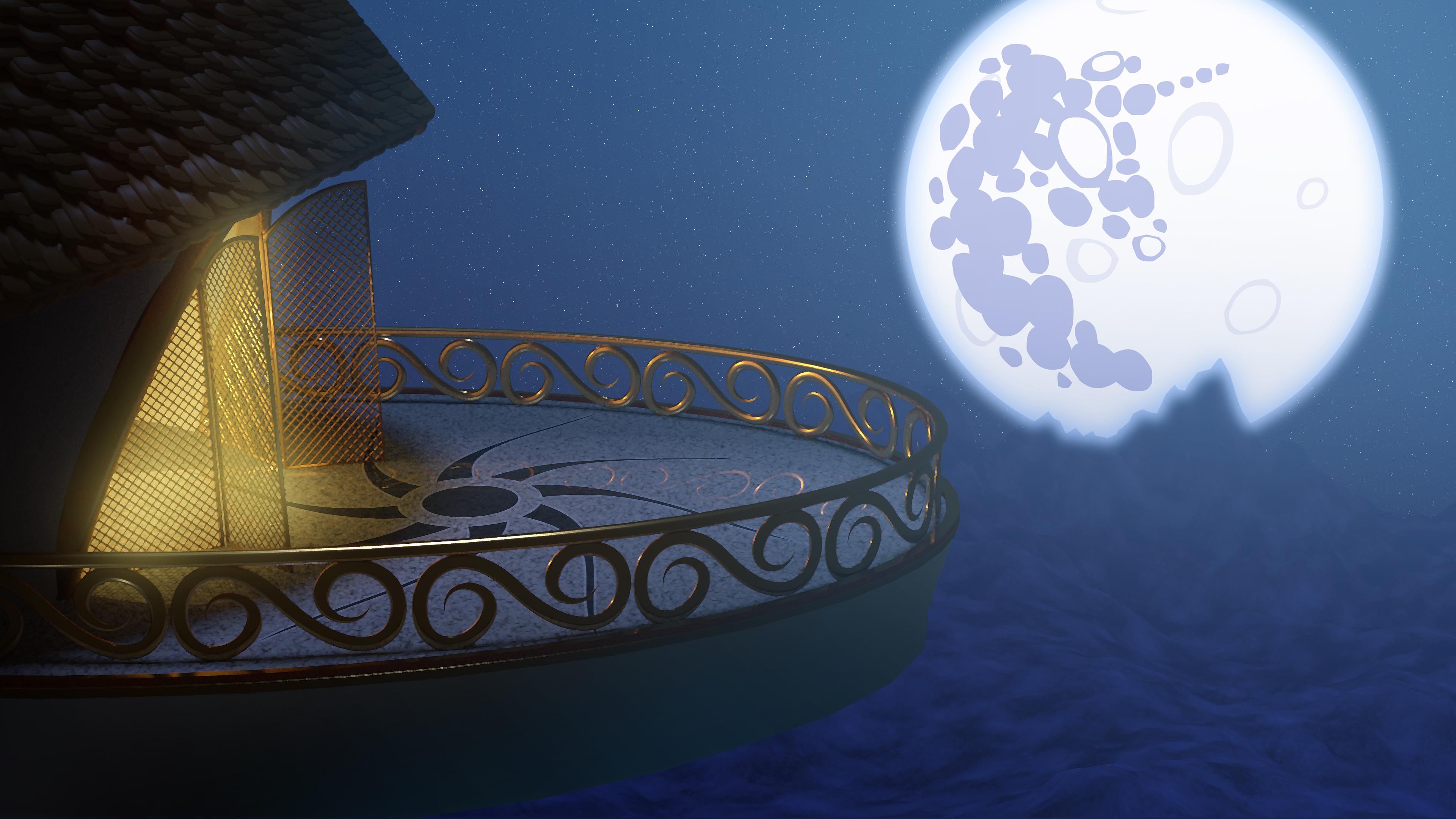 Canterlot Balcony (3D Render) by Etherium-Apex