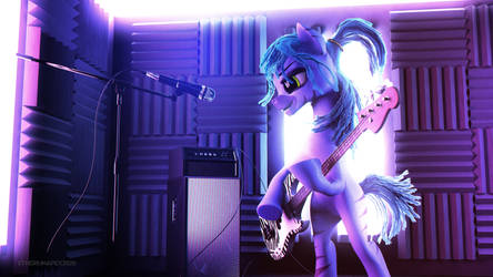 Jammin' With Stripes (Commission)