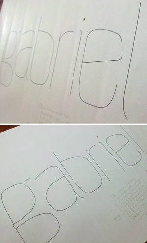 Typeface sketch