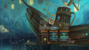 Underwater IFISH bar Illustration (Fantasy)