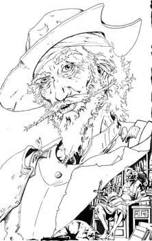 Don Quixote Comic Cover_Inks