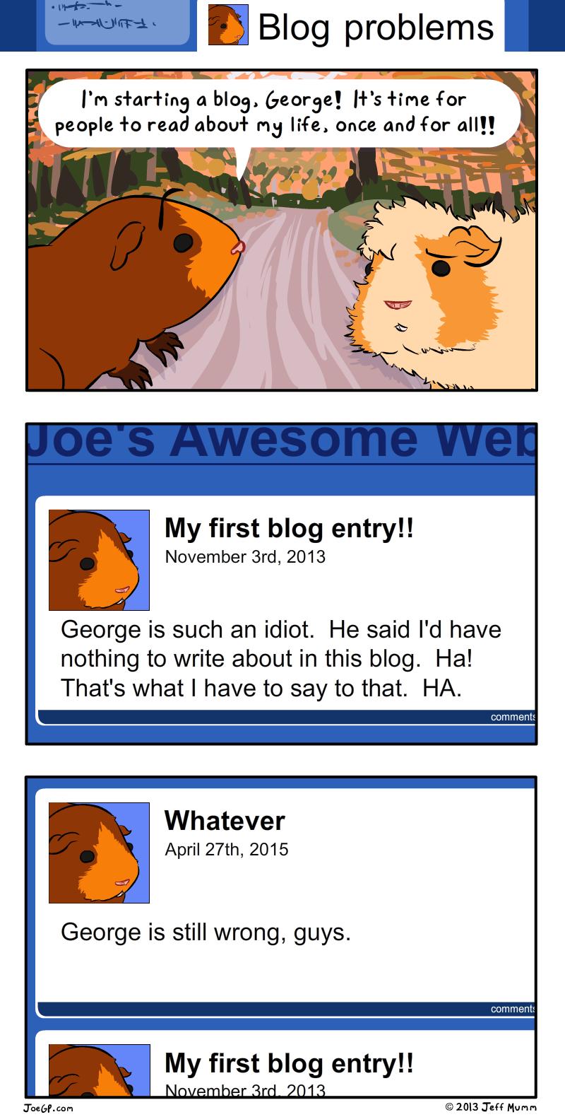 Blog Problems by JoeGPcom