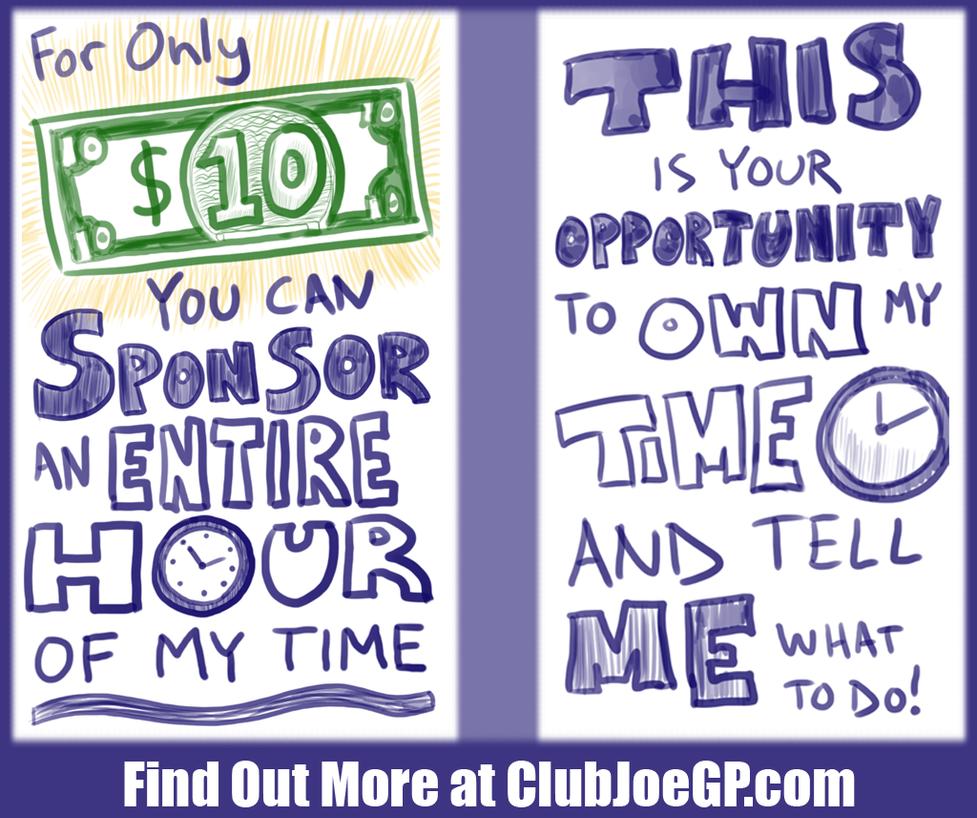 Sponsor My Time by JoeGPcom