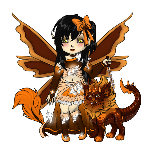 Snowdoll's Chocolate-Orange Manticore Outfit by ItsAndromeda