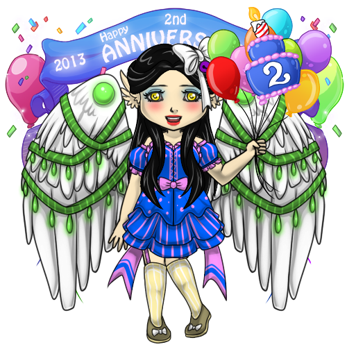 Snowdoll's Second Anniversary Outfit by ItsAndromeda
