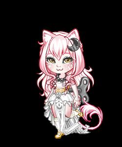 Pink Lunar Kitty by ItsAndromeda